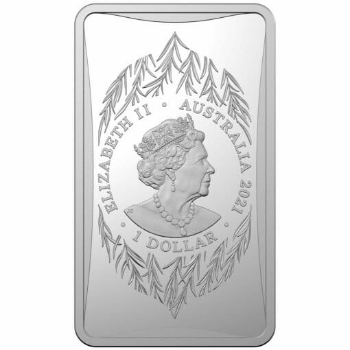 2021 $1 Year of the Ox 1/2oz .999 Silver Frosted Ingot 2