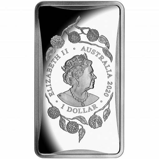 2020 $1 Year of the Rat 1/2oz .999 Silver Frosted Ingot 2