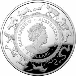 2020 $5 Lunar Year of the Rat 1oz .999 Silver Proof Domed Coin 8