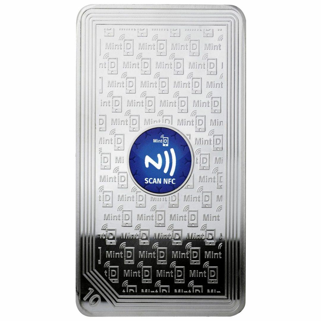 MintID Buffalo 10oz .999 Silver Minted Bullion Bar with NFC Scan Authentication 2