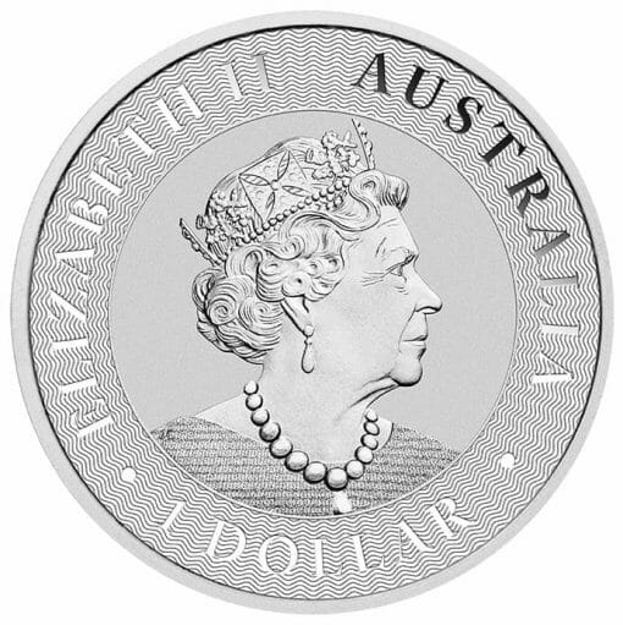 2021 Australian Kangaroo 1oz .9999 Silver Bullion Coin Back