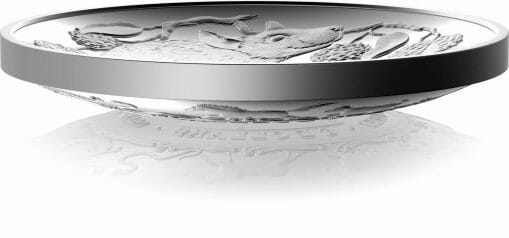 2020 $5 Lunar Year of the Rat 1oz .999 Silver Proof Domed Coin 2