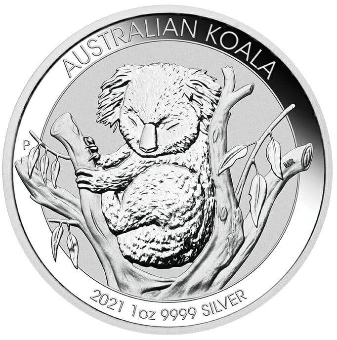 2021 Australian Koala 1oz .9999 Silver Bullion Coin 1