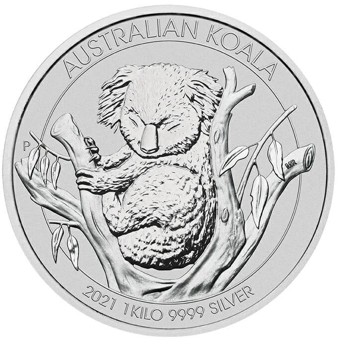 2021 Australian Koala 1kg .9999 Silver Bullion Coin - 1 Kilo 1