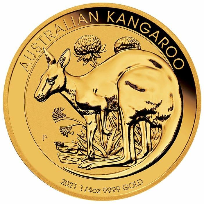 2021 Australian Kangaroo 1/4oz .9999 Gold Bullion Coin 1