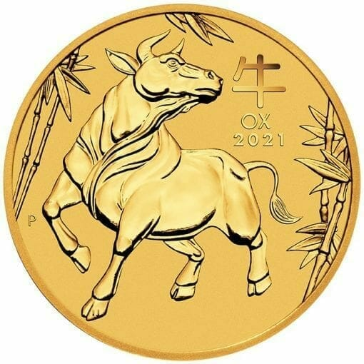 2021 Year of the Ox 1/2oz .9999 Gold Bullion Coin – Lunar Series III 1