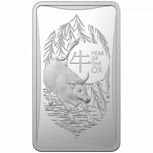 2021 $1 Year of the Ox 1/2oz .999 Silver Frosted Ingot 1