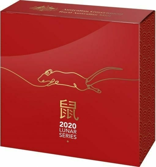 2020 $5 Lunar Year of the Rat 1oz .999 Silver Proof Domed Coin 5