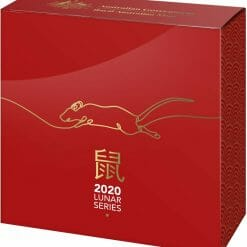 2020 $5 Lunar Year of the Rat 1oz .999 Silver Proof Domed Coin 10