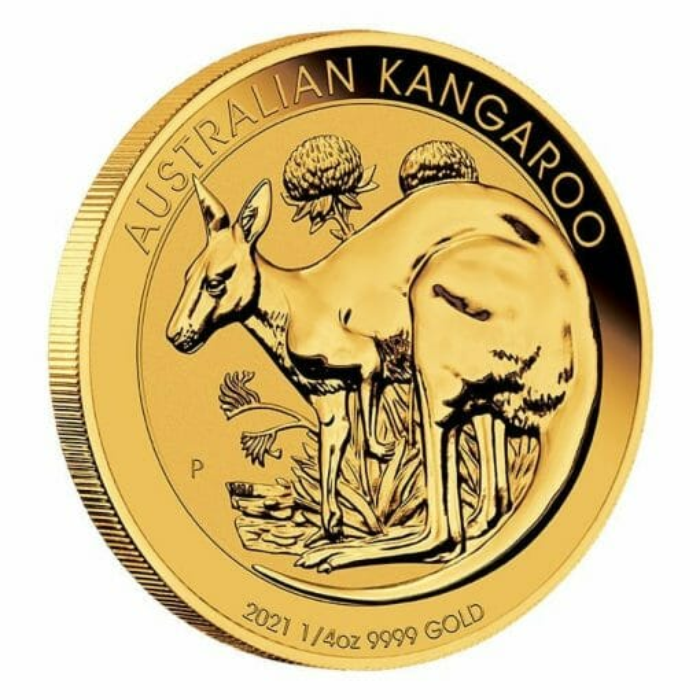 2021 Australian Kangaroo 1/4oz .9999 Gold Bullion Coin 2