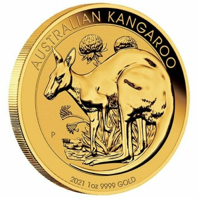 2021 Australian Kangaroo 1oz .9999 Gold Bullion Coin 2