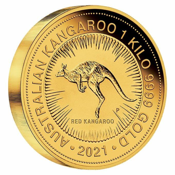 2021 Australian Kangaroo 1kg .9999 Gold Bullion Coin - 1 Kilo 2