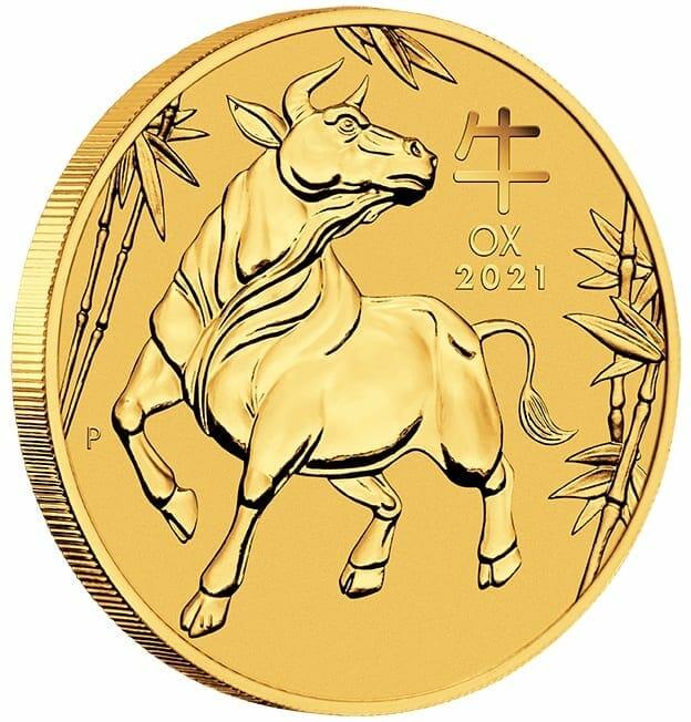 2021 Year of the Ox 1oz .9999 Gold Bullion Coin – Lunar Series III 4