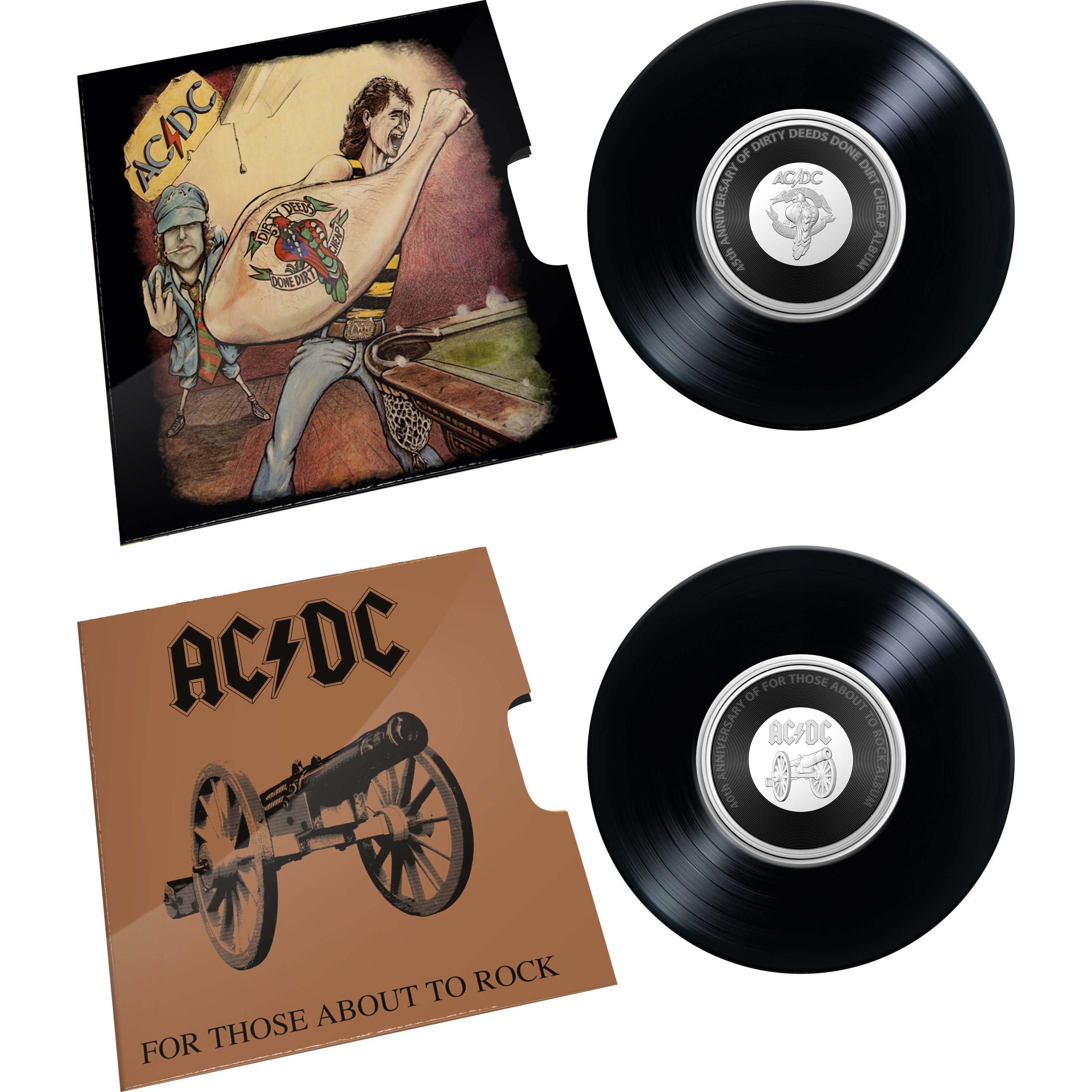 2020/2021 - AC/DC Seven Coin Collection - 20c Coloured CuNi Unc Coins 4