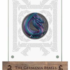 2020 Germania Beasts - Fafnir 2oz .9999 Ultra High Relief Silver Coin 12