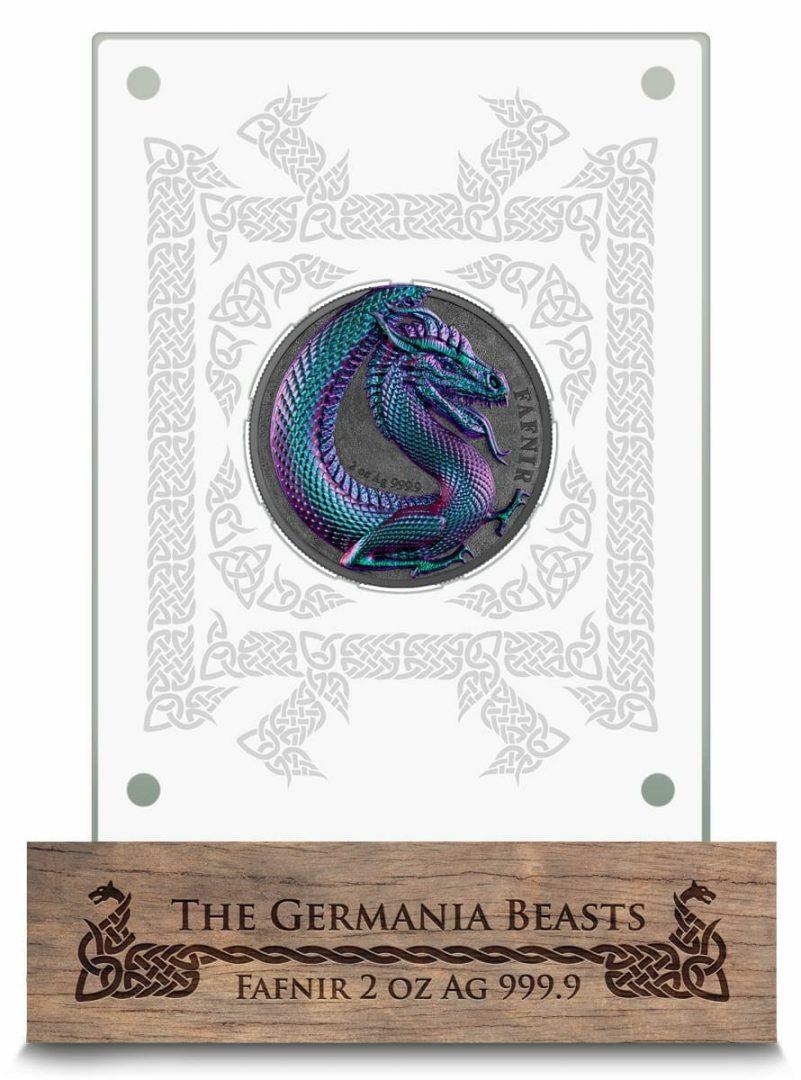 2020 Germania Beasts - Fafnir 2oz .9999 Ultra High Relief Silver Coin 6