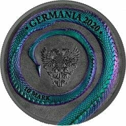 2020 Germania Beasts - Fafnir 2oz .9999 Ultra High Relief Silver Coin 8