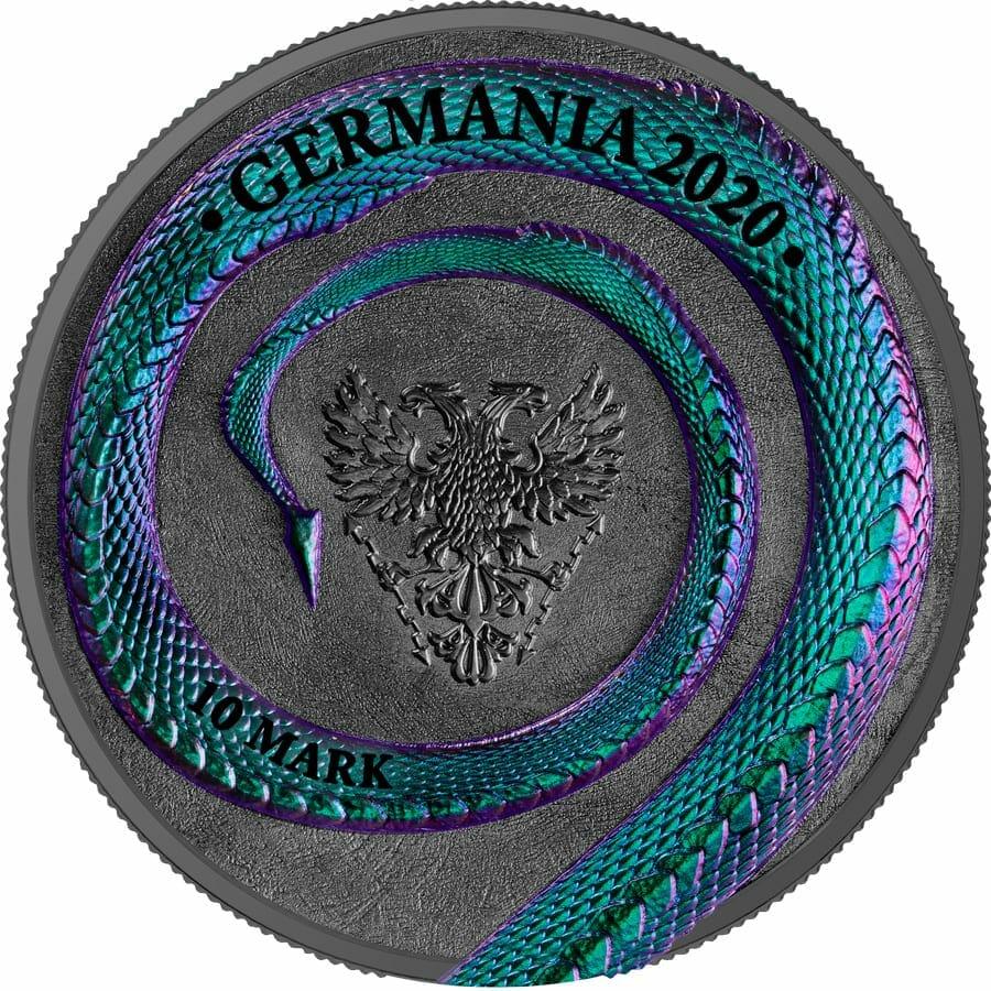 2020 Germania Beasts - Fafnir 2oz .9999 Ultra High Relief Silver Coin 2