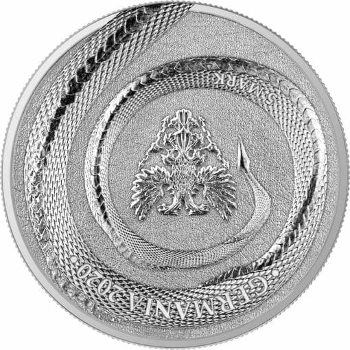 2020 Germania Beasts - Fafnir 1oz .9999 Silver Bullion 2 Coin Set in Capsule 3