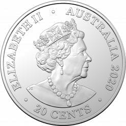2020 20c AC/DC 40th Anniversary of Back in Black Coloured Uncirculated Coin 7