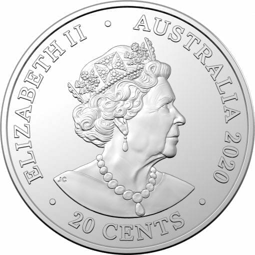 2020 20c AC/DC 40th Anniversary of Back in Black Coloured Uncirculated Coin 4