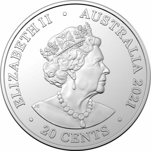 2021 20c AC/DC 45th Anniversary of For Those About to Rock We Salute You - Coloured Uncirculated Coin 4