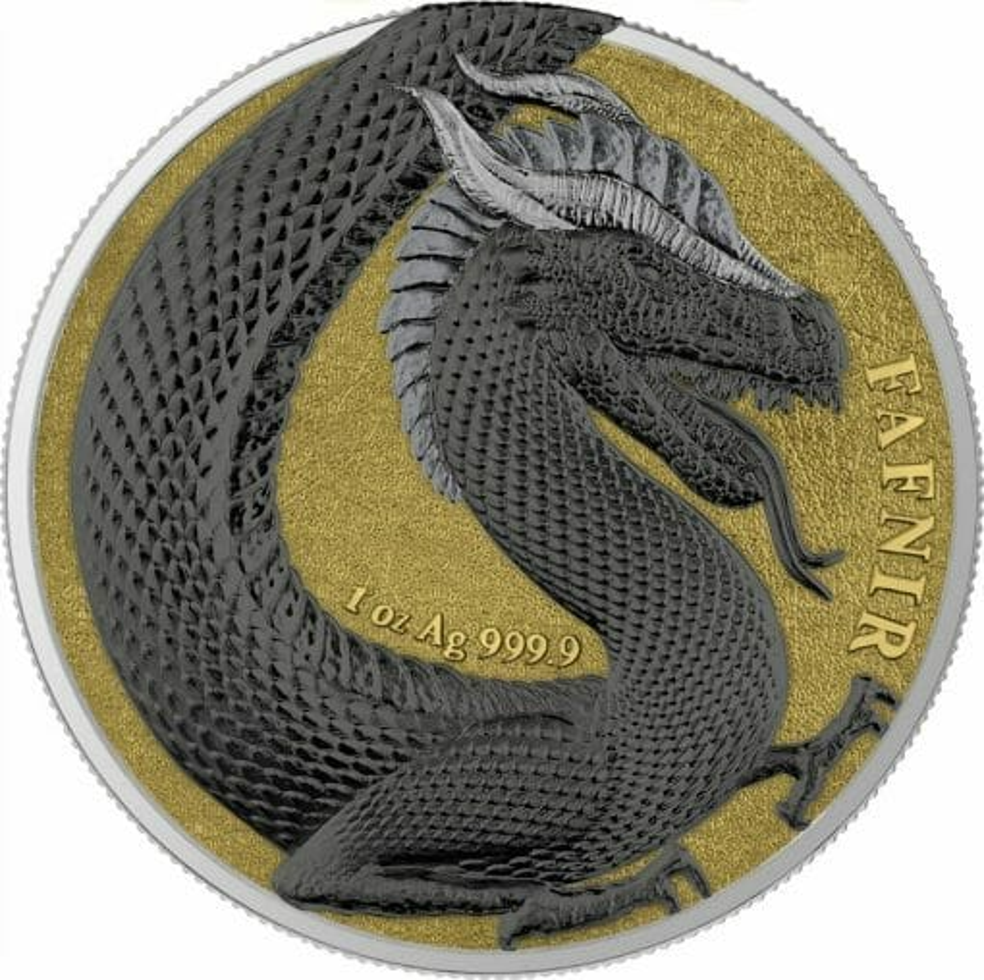 2020 Germania Beasts – Fafnir Geminus 1oz .9999 Silver 2 Coin Set 5