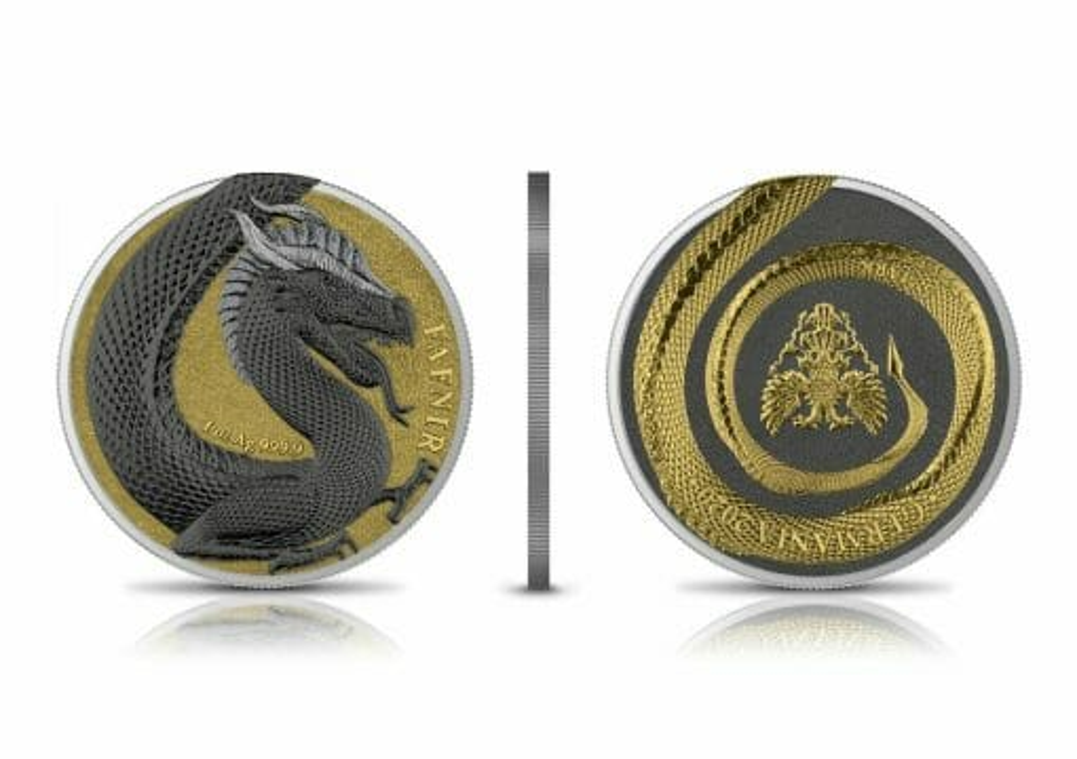 2020 Germania Beasts – Fafnir Geminus 1oz .9999 Silver 2 Coin Set 3