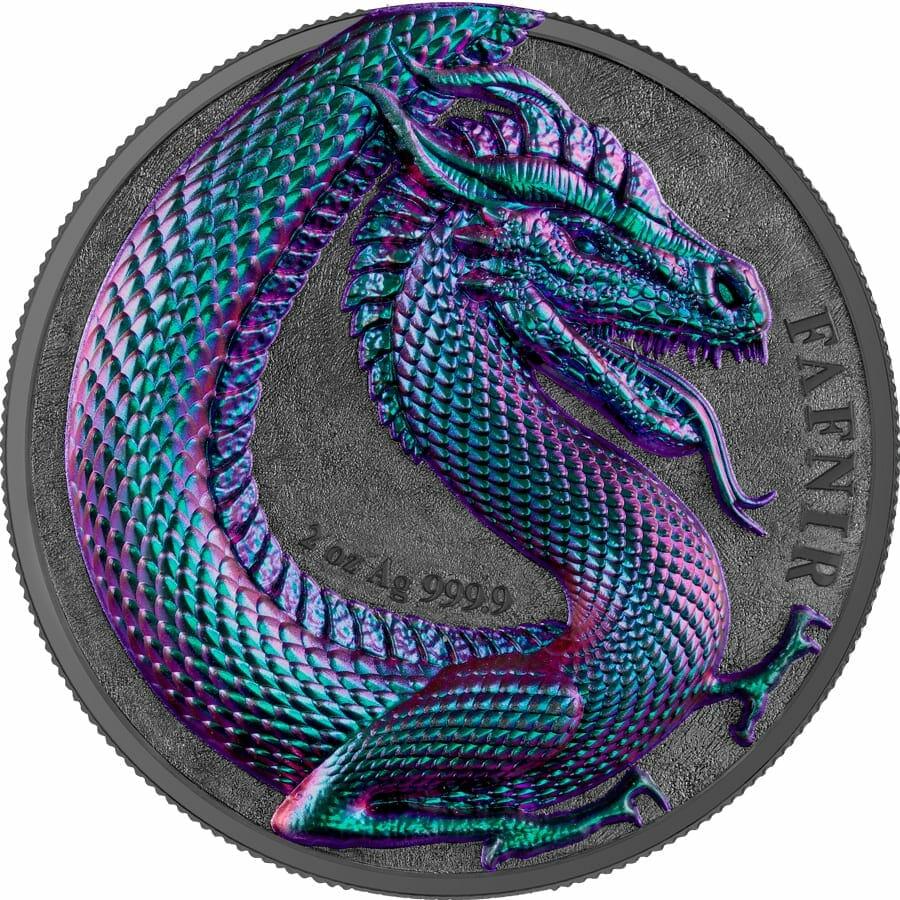 2020 Germania Beasts - Fafnir 2oz .9999 Ultra High Relief Silver Coin 1