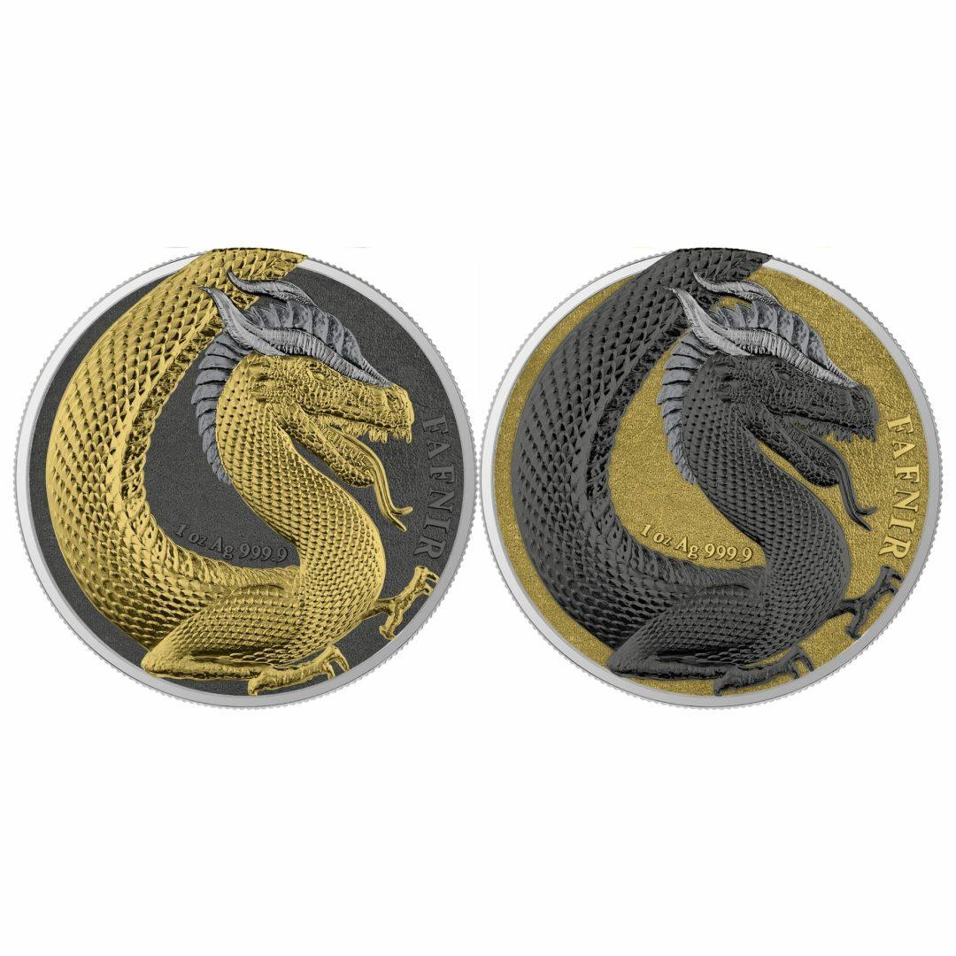 2020 Germania Beasts – Fafnir Geminus 1oz .9999 Silver 2 Coin Set 1