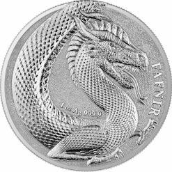2020 Germania Beasts - Fafnir 1oz .9999 Silver Bullion 2 Coin Set in Capsule 6