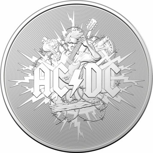 2021 $1 AC/DC 1oz .999 Silver Frosted Uncirculated Coin 1