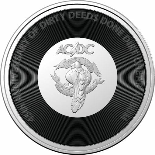2021 20c AC/DC 45th Anniversary of Dirty Deeds Done Dirty Cheap Coloured Uncirculated Coin 1