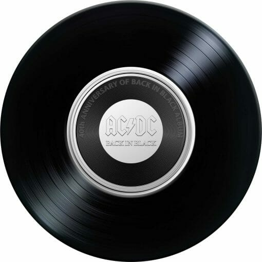 2020 20c AC/DC 40th Anniversary of Back in Black Coloured Uncirculated Coin 2