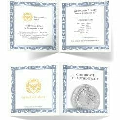2020 Germania Beasts - Fafnir 1oz .9999 Silver Bullion 2 Coin Set in Capsule 8