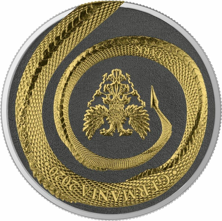 2020 Germania Beasts – Fafnir Geminus 1oz .9999 Silver 2 Coin Set 6