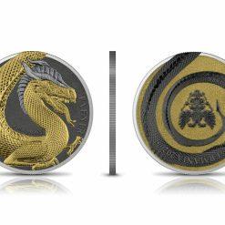 2020 Germania Beasts – Fafnir Geminus 1oz .9999 Silver 2 Coin Set 13