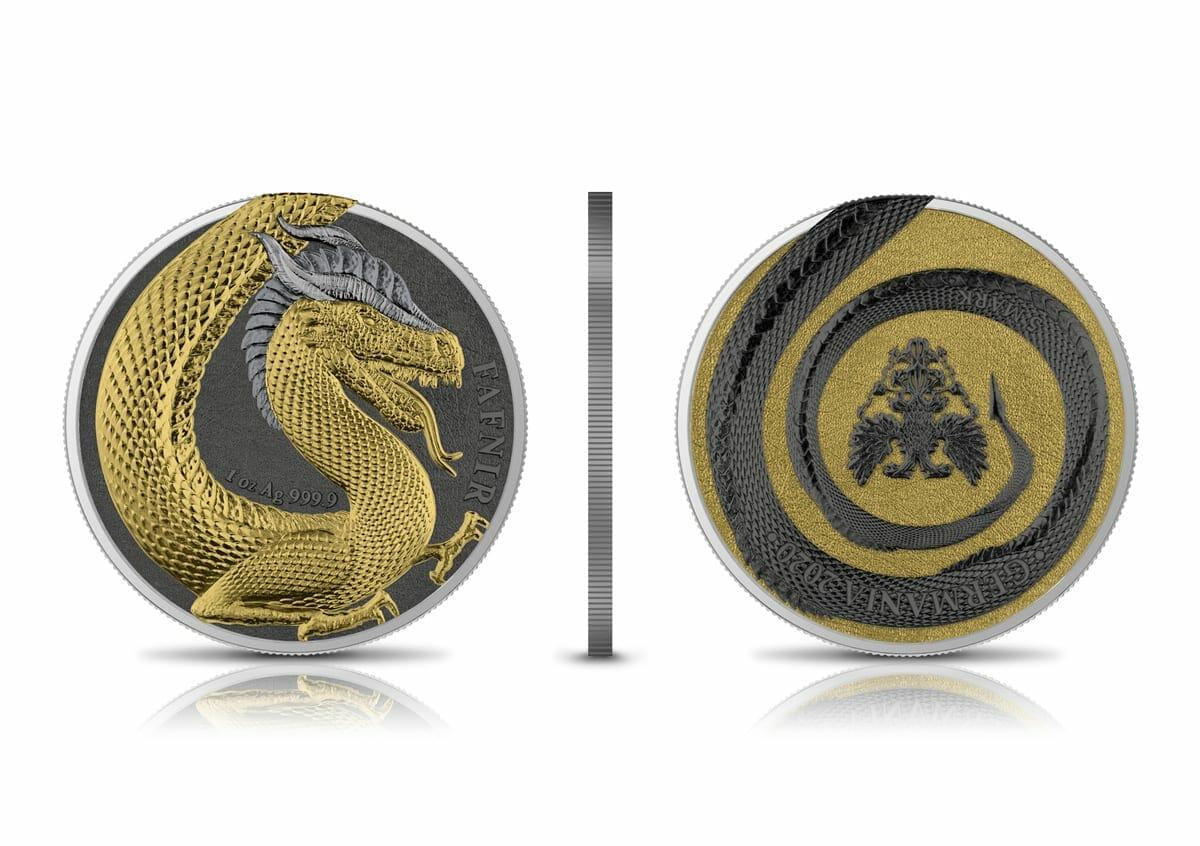 2020 Germania Beasts – Fafnir Geminus 1oz .9999 Silver 2 Coin Set 2