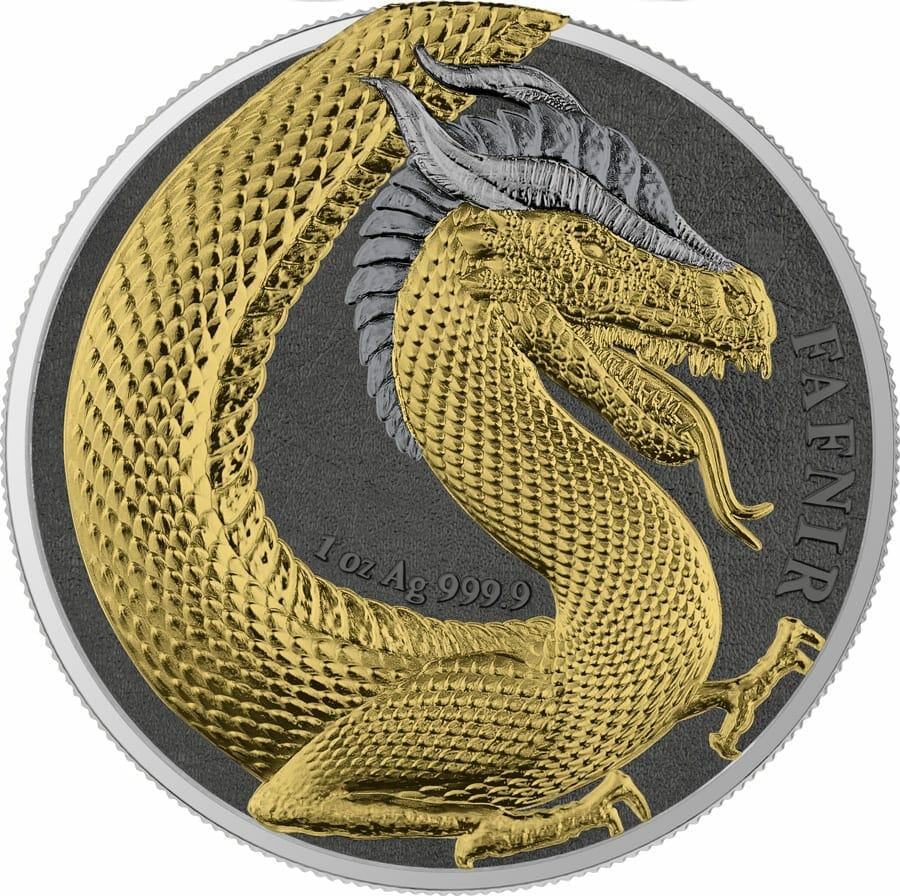 2020 Germania Beasts – Fafnir Geminus 1oz .9999 Silver 2 Coin Set 4
