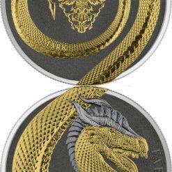 2020 Germania Beasts – Fafnir Geminus 1oz .9999 Silver 2 Coin Set 19