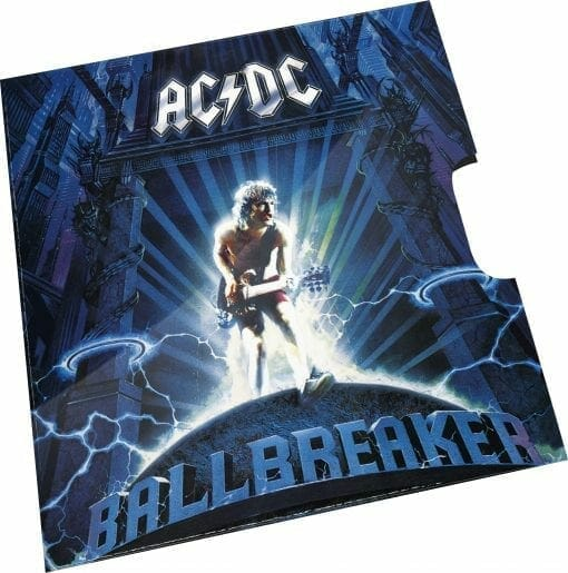 2020 20c AC/DC 25th Anniversary of Ballbreaker Album Coloured Uncirculated Coin 3