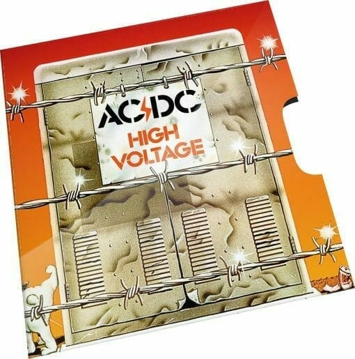 2020 20c AC/DC 45th Anniversary of High Voltage Coloured Uncirculated Coin 3