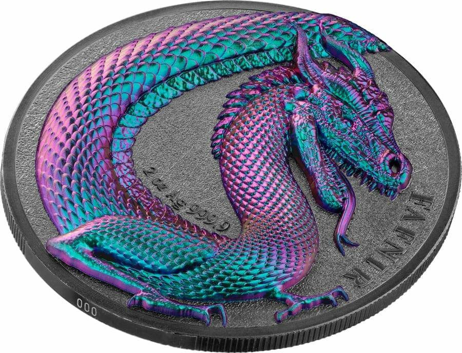2020 Germania Beasts - Fafnir 2oz .9999 Ultra High Relief Silver Coin 3