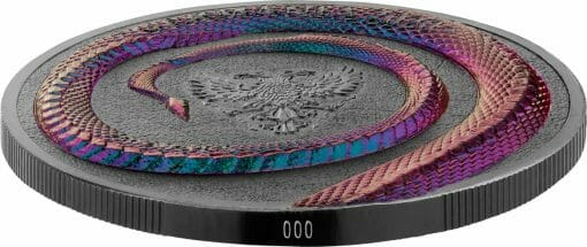 2020 Germania Beasts - Fafnir 2oz .9999 Ultra High Relief Silver Coin 5