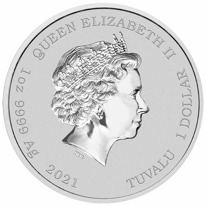 2021 John Wayne 1oz .9999 Silver Coloured Coin in Card 7