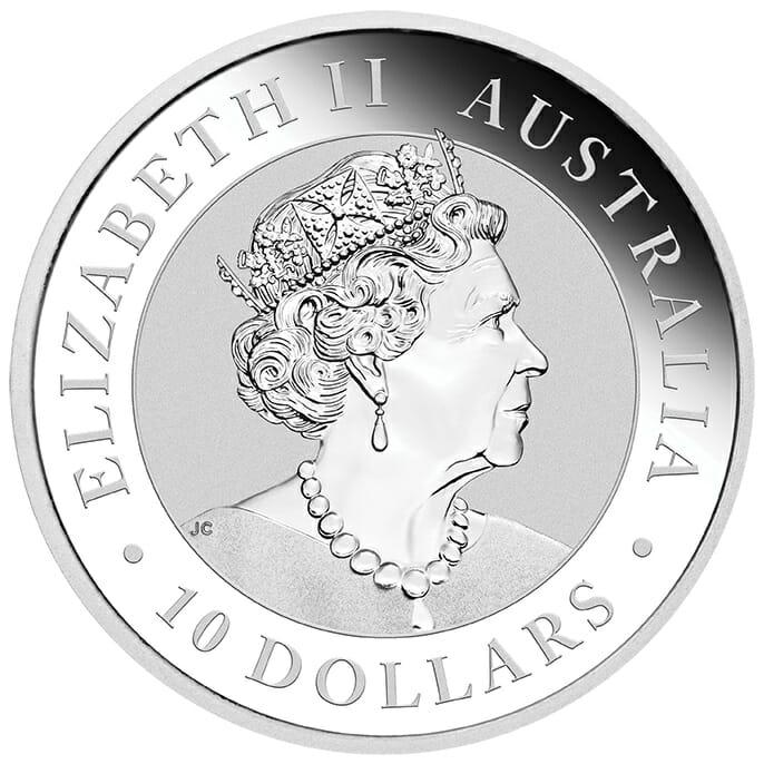 2021 Australian Kookaburra 10oz .9999 Silver Bullion Coin 5