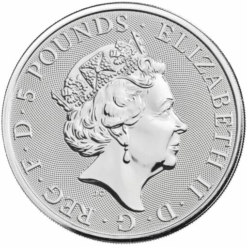 2021 The Queen's Beasts – The White Greyhound of Richmond 2oz .9999 Silver Bullion Coin 4