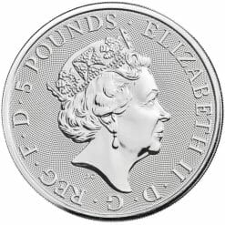 2021 The Queen's Beasts – The White Greyhound of Richmond 2oz .9999 Silver Bullion Coin 8