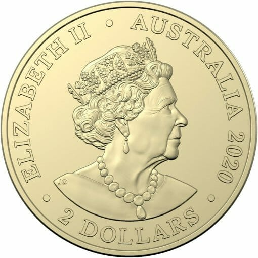 2020 $2 Australia's Firefighters Coloured Coins in Mint Roll - AlBr 4