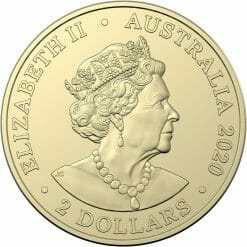 2020 $2 Australia's Firefighters Coloured Coins in Mint Roll - AlBr 7